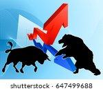 financial concept of a... | Shutterstock .eps vector #647499688