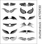 wings. elements for design. | Shutterstock .eps vector #64750930