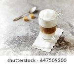 glass of latte macchiato....   Shutterstock . vector #647509300