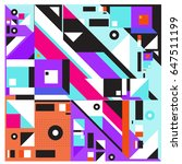 trendy geometric elements... | Shutterstock .eps vector #647511199