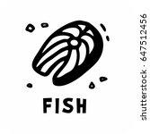 simple image fish steak | Shutterstock .eps vector #647512456