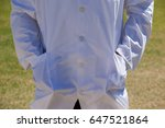 mid section of cricket umpire...   Shutterstock . vector #647521864