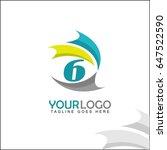 6 letter logo. abstract... | Shutterstock .eps vector #647522590