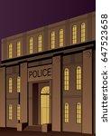illustration of police station... | Shutterstock .eps vector #647523658