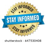 stay informed round isolated... | Shutterstock .eps vector #647530408