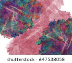 abstract fractal background.... | Shutterstock . vector #647538058