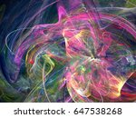 abstract fractal background.... | Shutterstock . vector #647538268