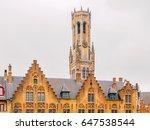 the belfry tower  aka belfort ... | Shutterstock . vector #647538544