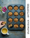 carrot muffins  cooking... | Shutterstock . vector #647539900