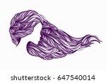 beautiful woman with long  wavy ... | Shutterstock .eps vector #647540014