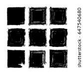 vector brush strokes square of... | Shutterstock .eps vector #647540680