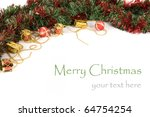 christmas decoration isolated... | Shutterstock . vector #64754254