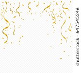 golden confetti and ribbon... | Shutterstock .eps vector #647545246