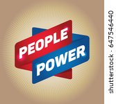 people power arrow tag sign. | Shutterstock .eps vector #647546440