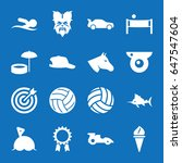 set of 16 sport filled icons... | Shutterstock .eps vector #647547604