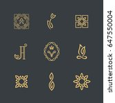 set of signs and symbols. | Shutterstock .eps vector #647550004