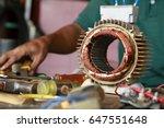 repairman during maintenance...   Shutterstock . vector #647551648