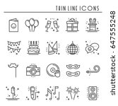 birthday icons set. vector....   Shutterstock .eps vector #647555248