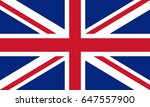 united kingdom flag. great... | Shutterstock . vector #647557900