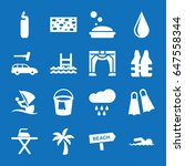 set of 16 water filled icons... | Shutterstock .eps vector #647558344