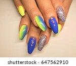 beauty nails   female hands   Shutterstock . vector #647562910