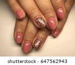 beauty nails   female hands   Shutterstock . vector #647562943