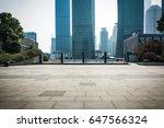 empty floor front of modern... | Shutterstock . vector #647566324