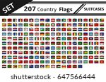set 207 country flags suitcases | Shutterstock .eps vector #647566444