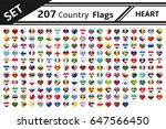 set 207 country flags with... | Shutterstock .eps vector #647566450