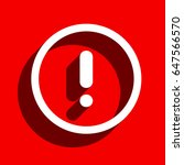 alert vector icon | Shutterstock .eps vector #647566570