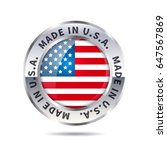 glossy metal badge icon  made... | Shutterstock .eps vector #647567869