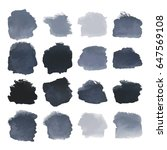 vector set of dark black...   Shutterstock .eps vector #647569108