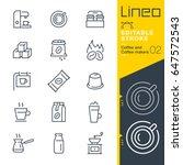 lineo editable stroke   coffee... | Shutterstock .eps vector #647572543