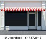 white shopfront in the sun  ... | Shutterstock . vector #647572948