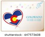 heart logo made from the flag...   Shutterstock .eps vector #647573608