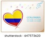 heart logo made from the flag...   Shutterstock .eps vector #647573620