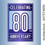 80 years anniversary design... | Shutterstock .eps vector #647574850
