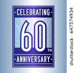 60 years anniversary design... | Shutterstock .eps vector #647574934