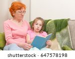 foxy granny and little girl are ...   Shutterstock . vector #647578198