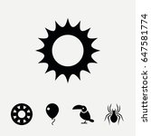 set of 5 color filled icons...   Shutterstock .eps vector #647581774