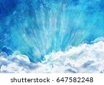 sunrise abstract background.... | Shutterstock . vector #647582248