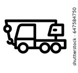 tow truck line vector icon | Shutterstock .eps vector #647584750
