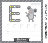 letter e uppercase tracing...