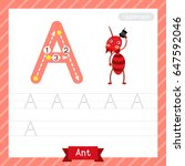 letter a uppercase tracing...   Shutterstock .eps vector #647592046