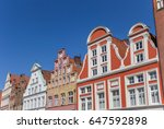 colorful facades in the... | Shutterstock . vector #647592898