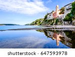 old town of rab in croatia - stock photo