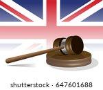 judge gavel with uk flag in...   Shutterstock .eps vector #647601688