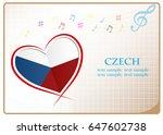 heart logo made from the flag...   Shutterstock .eps vector #647602738