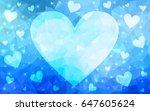 light blue vector abstract... | Shutterstock .eps vector #647605624