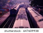 railway station in mumbai.... | Shutterstock . vector #647609938
